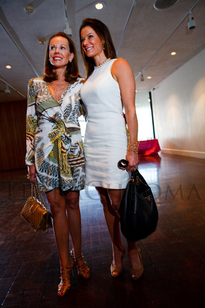 """(Denver, Colorado, May 4, 2011)<br /> Maureen Cannon (in Pucci, Manolo Blahnik shoes and Chanel handbag) and Rochelle McNaughton (in Calvin Klein, xxx shoes and Prada handbag).  """"Luncheon By Design,"""" an event sponsored by Neiman Marcus and The Design Council, at the Denver Art Museum in Denver, Colorado, on Wednesday, May 4, 2011.<br /> STEVE PETERSON"""