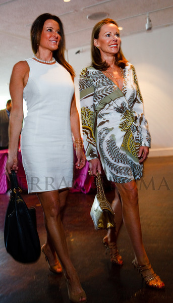 """(Denver, Colorado, May 4, 2011)<br /> Rochelle McNaughton (in Calvin Klein, Prada handbag) and Maureen Cannon (in Pucci, Manolo Blahnik shoes and Chanel handbag).  """"Luncheon By Design,"""" an event sponsored by Neiman Marcus and The Design Council, at the Denver Art Museum in Denver, Colorado, on Wednesday, May 4, 2011.<br /> STEVE PETERSON"""