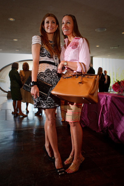"(Denver, Colorado, May 4, 2011)<br /> Alessandra Schulein (in Paredes) and Chad Sophia Suiter (in Ralph Lauren, handbag by Hermes).  ""Luncheon By Design,"" an event sponsored by Neiman Marcus and The Design Council, at the Denver Art Museum in Denver, Colorado, on Wednesday, May 4, 2011.<br /> STEVE PETERSON"