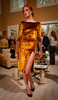 (Denver, Colorado, May 4, 2011)<br /> Gold panne velvet cocktail dress with hand-embroidered sleeves.  Trunk show by designer Wes Gordon at the home of Barbara Grogan in Denver, Colorado, on Wednesday, May 4, 2011.<br /> STEVE PETERSON