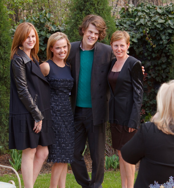 (Denver, Colorado, May 4, 2011)<br /> Taylor Pardun, Holiday Goodreau, Wes Gordon, and Angela Pak.  Trunk show by designer Wes Gordon at the home of Barbara Grogan in Denver, Colorado, on Wednesday, May 4, 2011.<br /> STEVE PETERSON