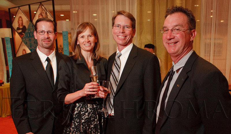 (Denver, Colorado, May 7, 2011)<br /> Winston Tate, Michelle and Greg Bushey, and Larry Hoke.  Colorado Symphony Gala at the Sheraton Denver Downtown Hotel in Denver, Colorado, on Saturday, May 7, 2011.<br /> STEVE PETERSON