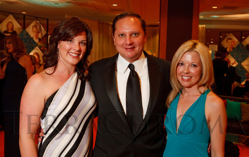 (Denver, Colorado, May 7, 2011)<br /> Emily and Joseph Perrotto with Donna Bloomer.  Colorado Symphony Gala at the Sheraton Denver Downtown Hotel in Denver, Colorado, on Saturday, May 7, 2011.<br /> STEVE PETERSON