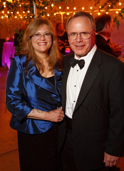 "(Denver, Colorado, May 7, 2011)<br /> Elaine and Kevin Kauffman.  ""Night Shine"" gala, benefiting the Denver Health Foundation, at the National Western Events Center in Denver, Colorado, on Saturday, May 7, 2011.<br /> STEVE PETERSON"