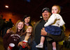 "(Littleton, Colorado, May 14, 2011)<br /> Sheila and Jeff Thompson with Lexi Howard (10, a family friend), and two of their children Hailey (10) and Harlowe (17 mos.).  Jeff represents Flagship Financial Partners, a DPC team sponsor.  ""The Barn Party,"" a kick-off to the Schomp BMW Denver Polo Classic, presented by Denver Active 20-30, at the stables of the Polo Reserve Development in Littleton, Colorado, on Saturday, May 14, 2011.<br /> STEVE PETERSON"