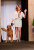 "(Denver, Colorado, May 21, 2011)<br /> Becky Ditchfield with Cooper.  Mutts and Models fashion show, themed ""Breakfast at Sniffany's,"" at Exdo Event Center in Denver, Colorado, on Saturday, May 21, 2011.<br /> STEVE PETERSON"