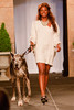 "(Denver, Colorado, May 21, 2011)<br /> Erica Cobb and Tank.  Mutts and Models fashion show, themed ""Breakfast at Sniffany's,"" at Exdo Event Center in Denver, Colorado, on Saturday, May 21, 2011.<br /> STEVE PETERSON"