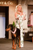 "(Denver, Colorado, May 21, 2011)<br /> Stephanie Odak with Zues and Persephone.  Mutts and Models fashion show, themed ""Breakfast at Sniffany's,"" at Exdo Event Center in Denver, Colorado, on Saturday, May 21, 2011.<br /> STEVE PETERSON"