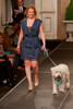 "(Denver, Colorado, May 21, 2011)<br /> Jennifer Johnson with Quigley.  Mutts and Models fashion show, themed ""Breakfast at Sniffany's,"" at Exdo Event Center in Denver, Colorado, on Saturday, May 21, 2011.<br /> STEVE PETERSON"