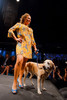 "(Denver, Colorado, May 21, 2011)<br /> Allison Van Heusen with Piper.  Mutts and Models fashion show, themed ""Breakfast at Sniffany's,"" at Exdo Event Center in Denver, Colorado, on Saturday, May 21, 2011.<br /> STEVE PETERSON"