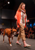 "(Denver, Colorado, May 21, 2011)<br /> Ashleigh Suftko with Tyson.  Mutts and Models fashion show, themed ""Breakfast at Sniffany's,"" at Exdo Event Center in Denver, Colorado, on Saturday, May 21, 2011.<br /> STEVE PETERSON"