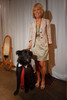 "(Denver, Colorado, May 21, 2011)<br /> Cindy Lee with Baxter.  Mutts and Models fashion show, themed ""Breakfast at Sniffany's,"" at Exdo Event Center in Denver, Colorado, on Saturday, May 21, 2011.<br /> STEVE PETERSON"