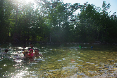 Thank goodness for the river!  We swam every day to deal with the heat.