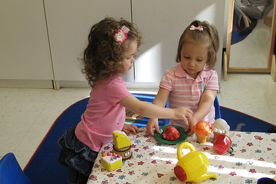 playing tea party with my buddy Charlotte