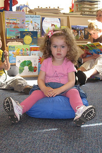 G made herself comfortable in the Middle of Circle Time :)