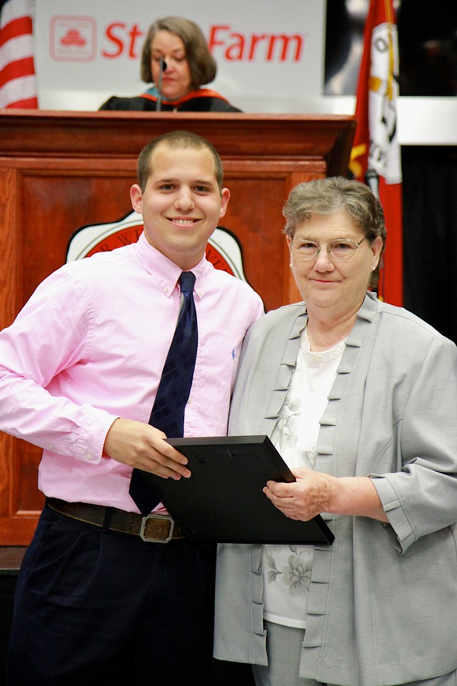 56th Annual Academic Awards Day Ceremony. F. Keith Griggs Student Leadership Award: Corey John Divine