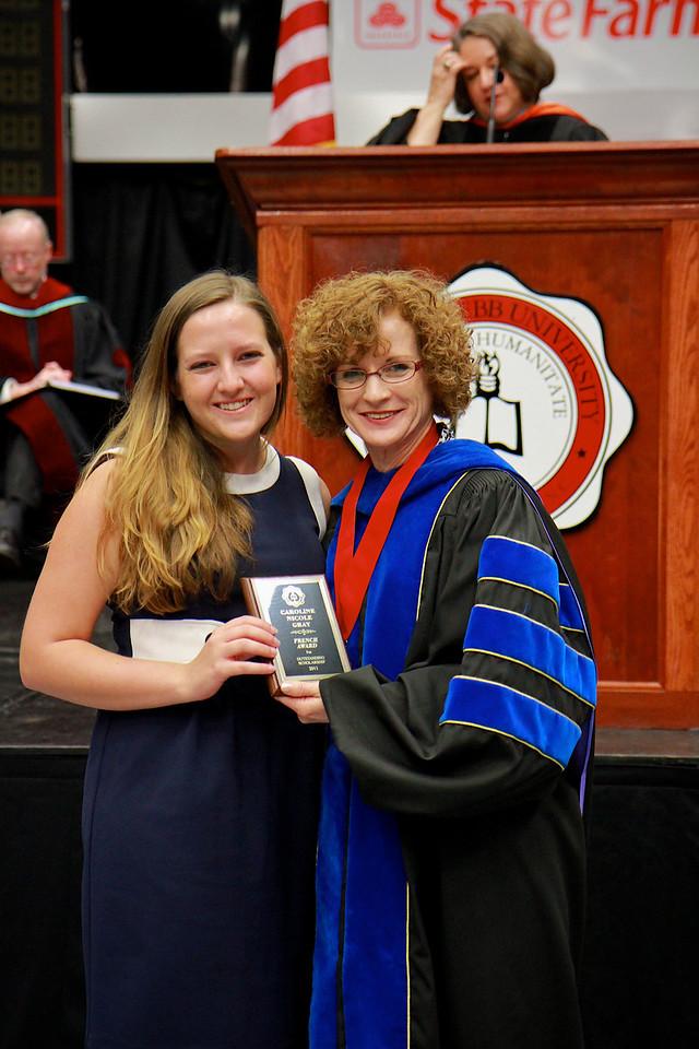 56th Annual Academic Awards Day Ceremony. French Award: Caroline Nicole Grey