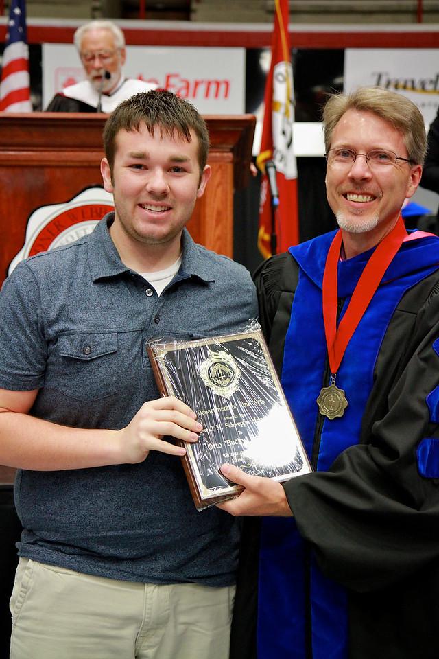 "56th Annual Academic Awards Day Ceremony. David M. Schweppe Memorial Music Award: Otto ""Bucky"" Reynolds III"