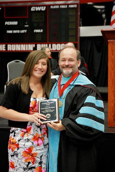 56th Annual Academic Awards Day Ceremony. Religious Education Award: Erica Elizabeth Moore
