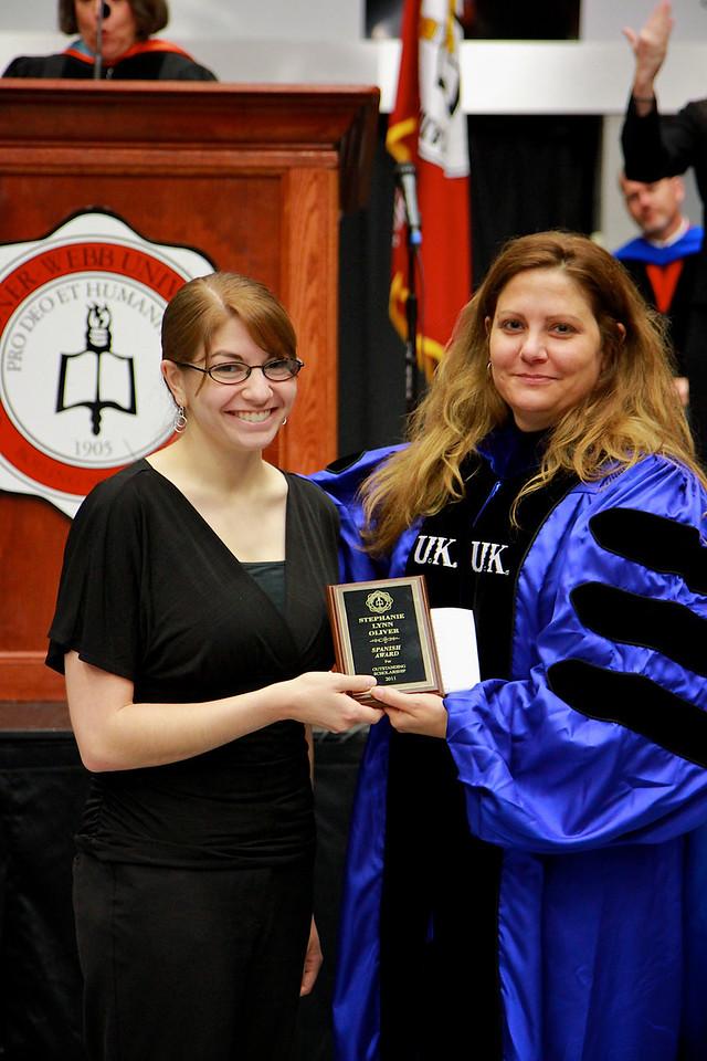 56th Annual Academic Awards Day Ceremony. Spanish Award: Stephanie Lynn Oliver