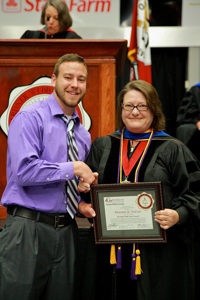 56th Annual Academic Awards Day Ceremony. Ray Webb Lutz Award: Benjamin Paul Lacroix