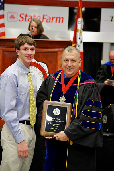 56th Annual Academic Awards Day Ceremony. Alfred and Shirley Wampler Caudill Marketing Award: George Parham Partin IV