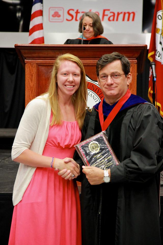 56th Annual Academic Awards Day Ceremony. Sociology Award: Stephanie Jordan Benshoof