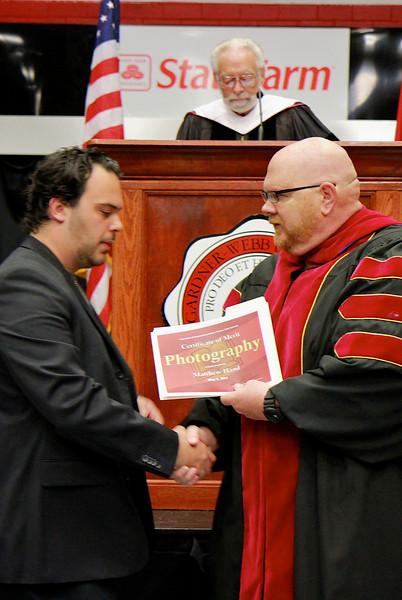 56th Annual Academic Awards Day Ceremony. Photography Award: Matthew Hampton Hand