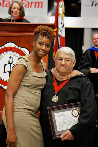 56th Annual Academic Awards Day Ceremony. John and Linda Godbold Award: Nakia Loveise James
