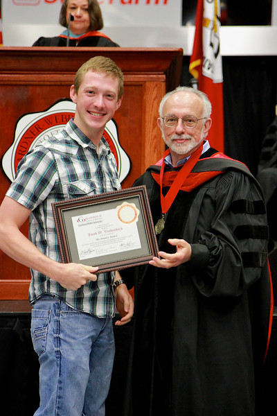 56th Annual Academic Awards Day Ceremony. Finance Award: Jacob Wesley Vandenbark