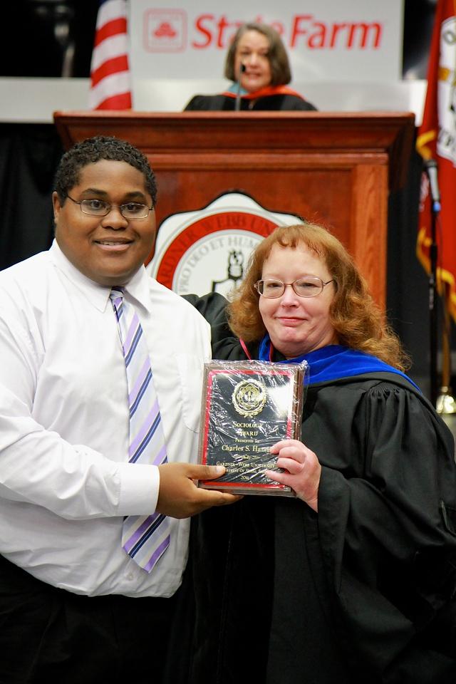 56th Annual Academic Awards Day Ceremony. Sociology Award: Charles Stefon Harris