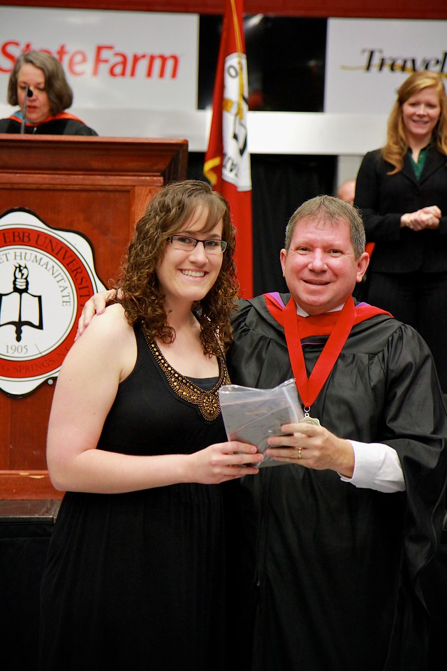56th Annual Academic Awards Day Ceremony. American Sign Language Award: Amber Jo Sweigart