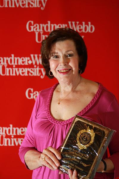Apples and Accolades Awards Ceremony; May 2011. Adjunct Faculty Award: Nan Francis