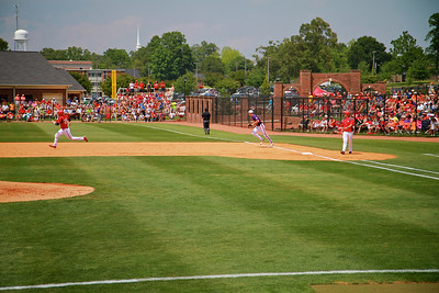 Baseball versus Clemson; GWU hosts first ACC team at John Henry Moss Stadium. Bulldog fans show tremendous support.