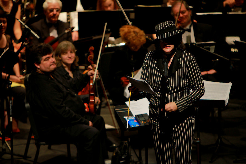 "The Gardner-Webb Orchestra joins the Josh Cogan Band to debut GWU Student Josh Cogan's musical thesis composition, ""Double Crossed"" in Spring of 2011."
