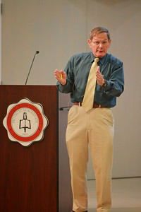 Dr. Anthony Eastman's last lecture, streamed live over the internet, at Gardner-Webb University.