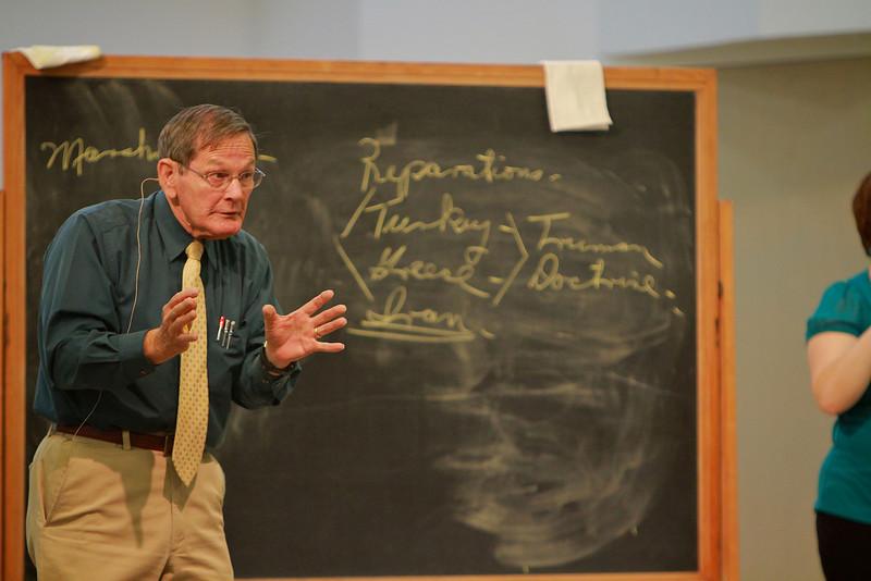 Dr. Anthony Eastman's last lecture, streamed live over the internet, at Gardner-Webb University.