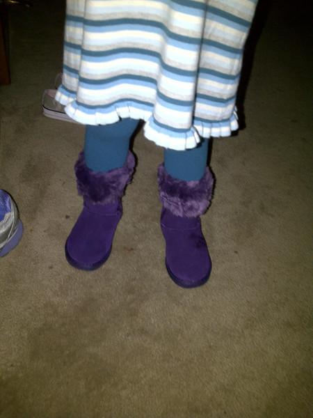 new purple boots