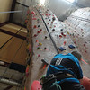 Steve heading up the long hand crack.....~65' of perfacet hand crack on a slightly overhanging wall.....pumpy!