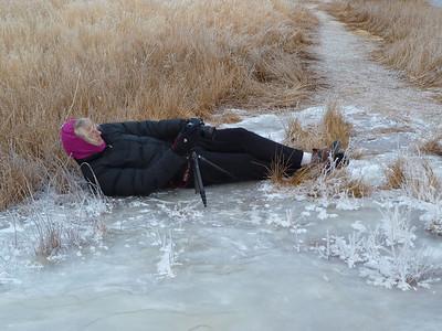Catching the scene at Mono Lake. Brrrrr.