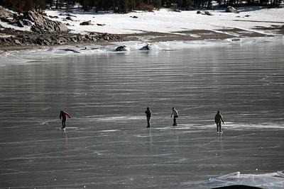 Ice Skating Tioga Lake.