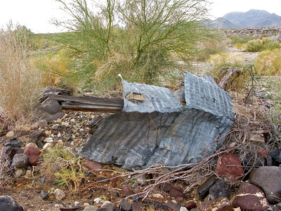 Derelict shack  remnant