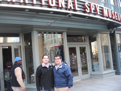 Craig and Jordan, in front of the International Spy Museum.  Photography was not permitted inside.  (3/8/11)