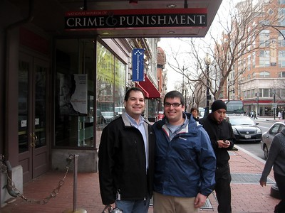 Craig and Jordan at the National Museum of Crime & Punishment (3/8/11)