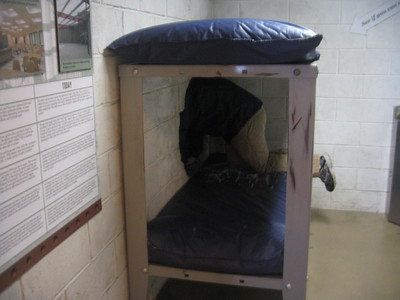 Jordan escapes from a prison cell at the National Museum of Crime & Punishment (3/8/11)