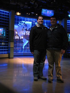 Craig and Jordan on the set of America's Most Wanted, at the National Museum of Crime & Punishment (3/8/11)