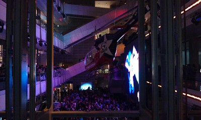 At a party at the Newseum.  The entire building -- including the exhibits -- was open to guests. (3/25/11)