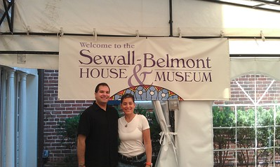 Craig (l) and Jamie, at the Sewall-Belmont House & Museum (8/20/11)