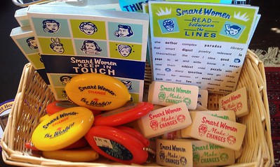 Products from Smart Women Company, in the gift shop of the Sewall-Belmont House & Museum (8/20/11)
