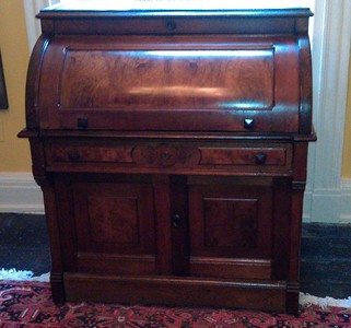 Desk owned by Susan B. Anthony, at the Sewall-Belmont House & Museum (8/20/11)
